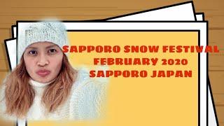 Sapporo Hokkaido Japan 2020 during the height of 2019 NCOV