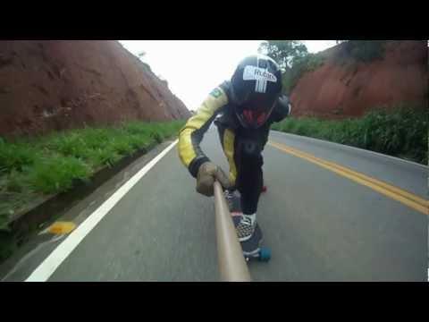 Skate Downhill Speed ES - Trip para Aimorés | MG - Rubim e Partiu Downhill - gopro