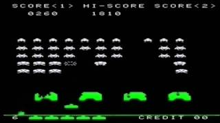 Space Invaders but all the sounds are voiced