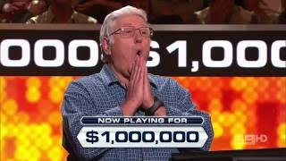 Millionaire Hot Seat Australia - First $1 Million winner ever! (29 August 2016)