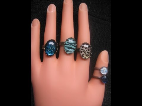 DIY:  Nailpolish earrings and rings
