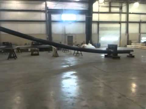 Duratel Fiberglass Composite Utility Pole Breaking Test