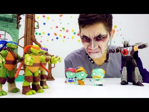 Видео с игрушками Черепашки Ниндзя. Что сделал  Шреддер?