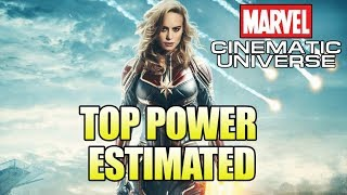 How Powerful is the MCU Captain Marvel? (Estimate)