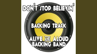 Don 39 T Stop Believin 39 Backing Track Karaoke Version
