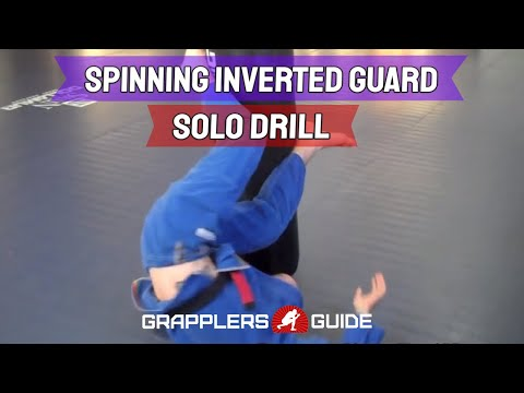 GrapplingDrills.com - BJJ Berimbolo, Spinning Inverted Guard Solo Drill - Jason Scully Image 1