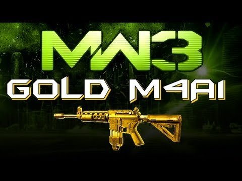 MW3 Online - GOLD M4A1 - This is MY Gun! (Perk and Attachment Advice)