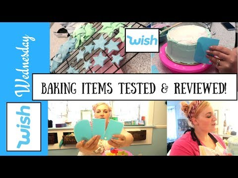 WISH APP BAKING & KITCHEN HAUL! WATCH ME DECORATE A CAKE WITH ITEMS FROM WISH.COM!