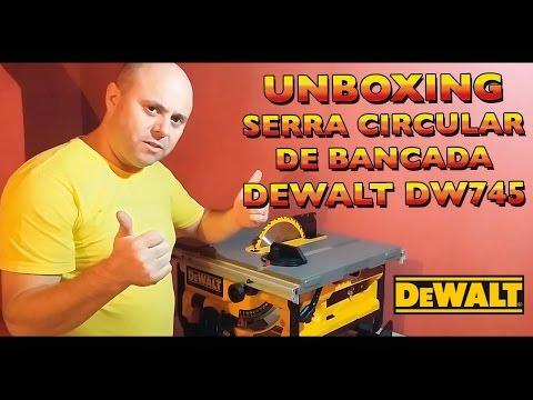 Unboxing Serra Circular de Bancada - Dewalt DW745