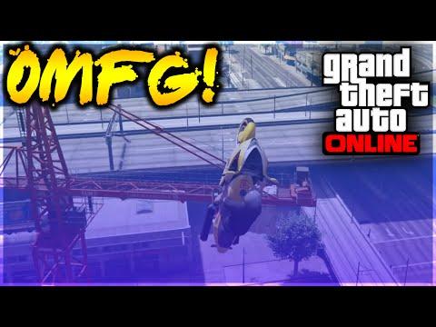 GTA 5 Stunts - OMFG! Incredible Motorcycle Crane Precision Stunt! (GTA 5 Stunt Challenge)