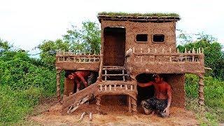 Build  Beautiful Two Floor Mud House Villa.
