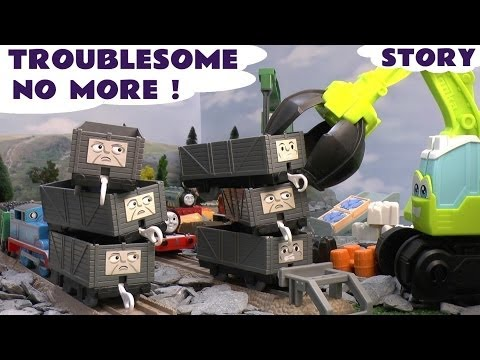 Play Doh Thomas The Tank Kids Story Troublesome Trucks Thomas Tank Playdough Diggin Rigs Chomper