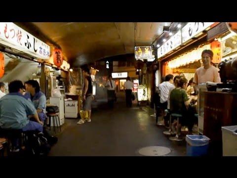 東京風景紹介 有楽町・居酒屋地帯 Japan tourism - night walk in Tokyo's street