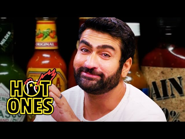 Kumail Nanjiani Sweats Intensely While Eating Spicy Wings | Hot Ones thumbnail