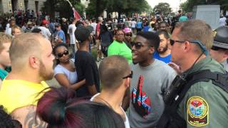 Racists clash after KKK and Black Panthers rally at SC State House on the same day! 7/18/15