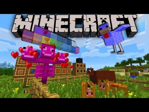 Minecraft 2.0 Snapshot: Exploding Horses Dyed Glass Diamond Chicken Coal Block Pink Wither
