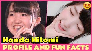 IZONE HONDA HITOMI Profile and Fun facts