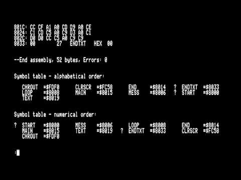 Apple ][ 6502 Assembler the retro way.