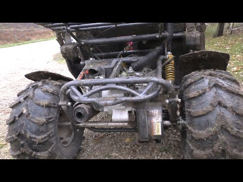 Mud Lite tire upgrade  on a American Sportworks Carbide 150cc Go Kart