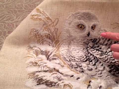 Схемы вышивки полярная сова