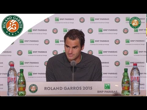 Press conference Roger Federer 2015 French Open / Quarterfinals