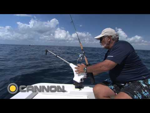 Addictive Fishing: How to use a Cannon downrigger in a small bay boat