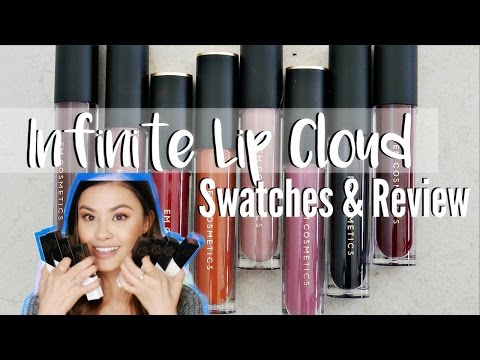 ALL 8 EM COSMETICS INFINITE LIP CLOUD SWATCHES   Brand New Re-Launch Review