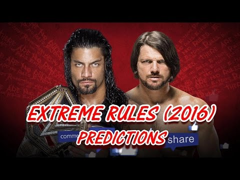 WWE EXTREME RULES (2016) WWE Championship Roman Reigns vs. AJ Styles (Extreme Rules) PREDICTIONS thumbnail