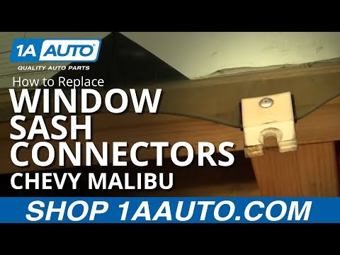 How To Install Replace Broken Sash Connectors Chevy Malibu 97-03 1AAuto.com