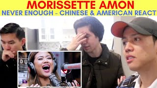MORISSETTE AMON | NEVER ENOUGH | LIVE on Wish 107.5 Bus | REACTION VIDEO BY REACTIONS UNLIMITED