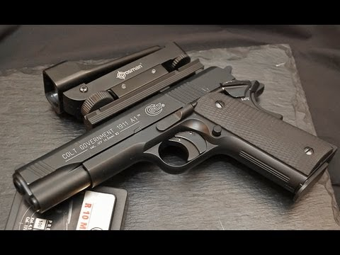 Colt Government 1911A1 .177 Caliber (4.5mm) Pellet Gun Shooting with Hyper Velocity Pellets