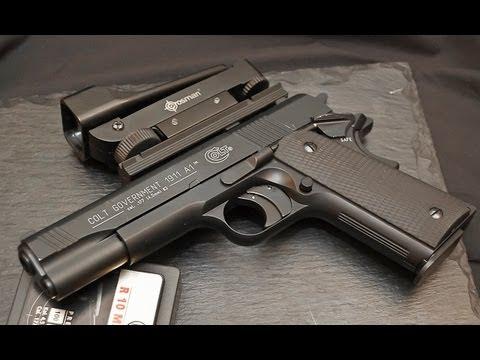 Colt Government 1911A1 .177 Caliber (4.5mm) Pellet Gun Shooting with Hyper Velocity Pellets