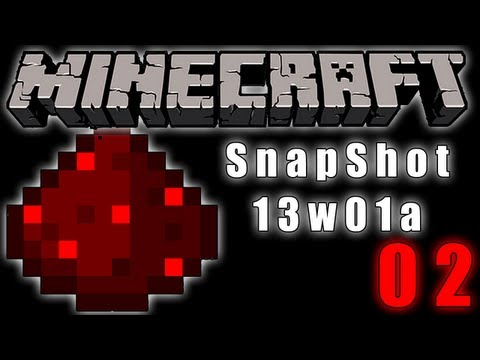 Minecraft SnapShot 13w01a - Redstone Update 02