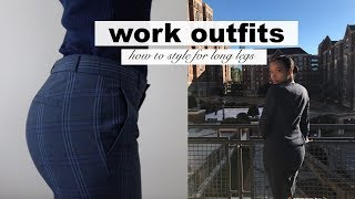 My One Week of Work Outfits | How to Style for LONG Legs + Tips for Thong Wear and Hairstyle Ideas