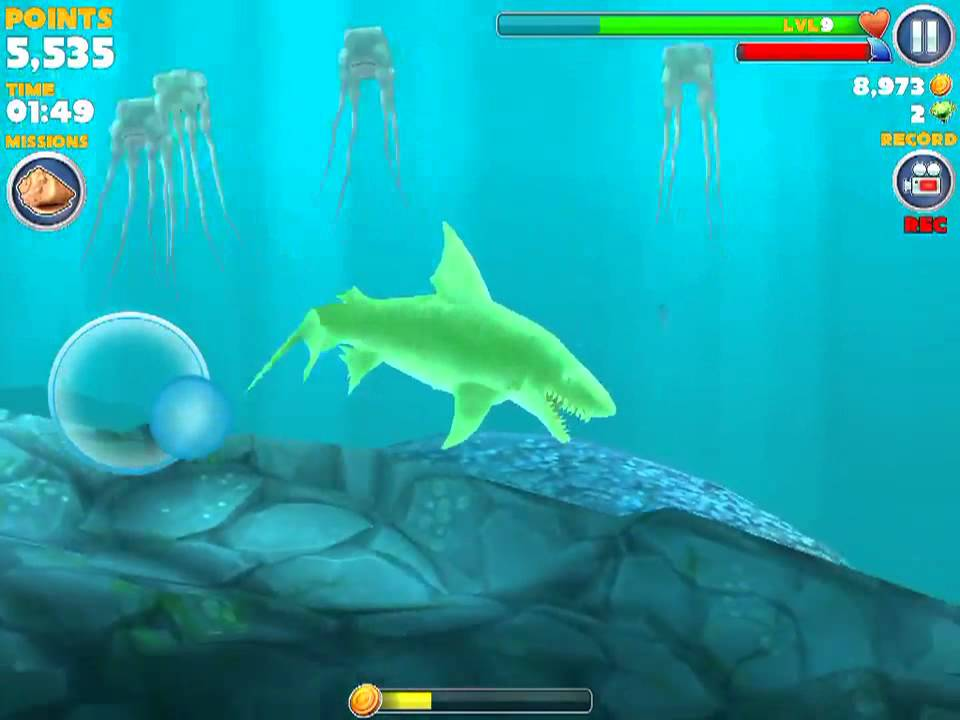 Hungry shark evolution kempy cave youtube for Fish evolution game