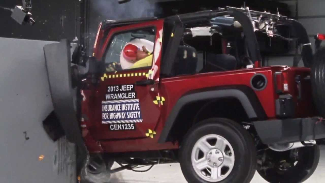 iihs 2013 jeep wrangler 2door small overlap crash test marginal. Cars Review. Best American Auto & Cars Review