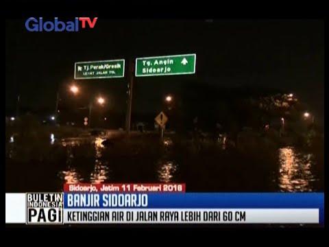 Banjir di Sidoarjo Selatan meluas hingga Porong, polisi tutup Jalan Raya Porong - BIP 12/02