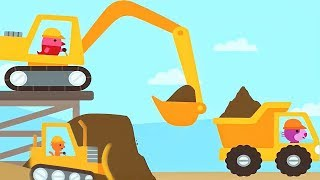 Learning Construction Vehicles Toys For Kids - Excavator, Crane and Dump Truck