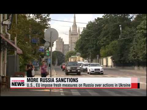 U.S., EU announce fresh sanctions on Russia   EU·미국, 러시아 추가 제재…러, 반발