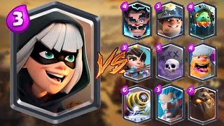 Bandit vs All Cards in Clash Royale   Bandit Gameplay