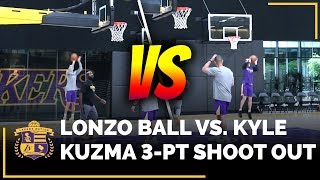 Lonzo Ball vs. Kyle Kuzma 3-Point Shoot Around
