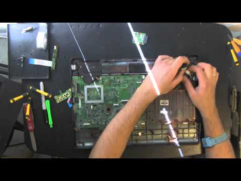 HP PAVILION G70 take apart video. disassemble. how to open disassembly