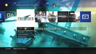 Final Fantasy VII Remake - PS4 Midgar Custom Theme Preview [1080p 60fps]