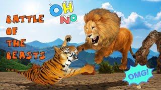 Ultimate Lion Vs Tiger Wild Jungle Adventure | Gameplay kids fun | Kids Video | Hannu Games