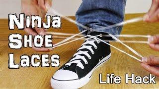 How to Tie Shoe Laces like a Ninja! Life Hacks