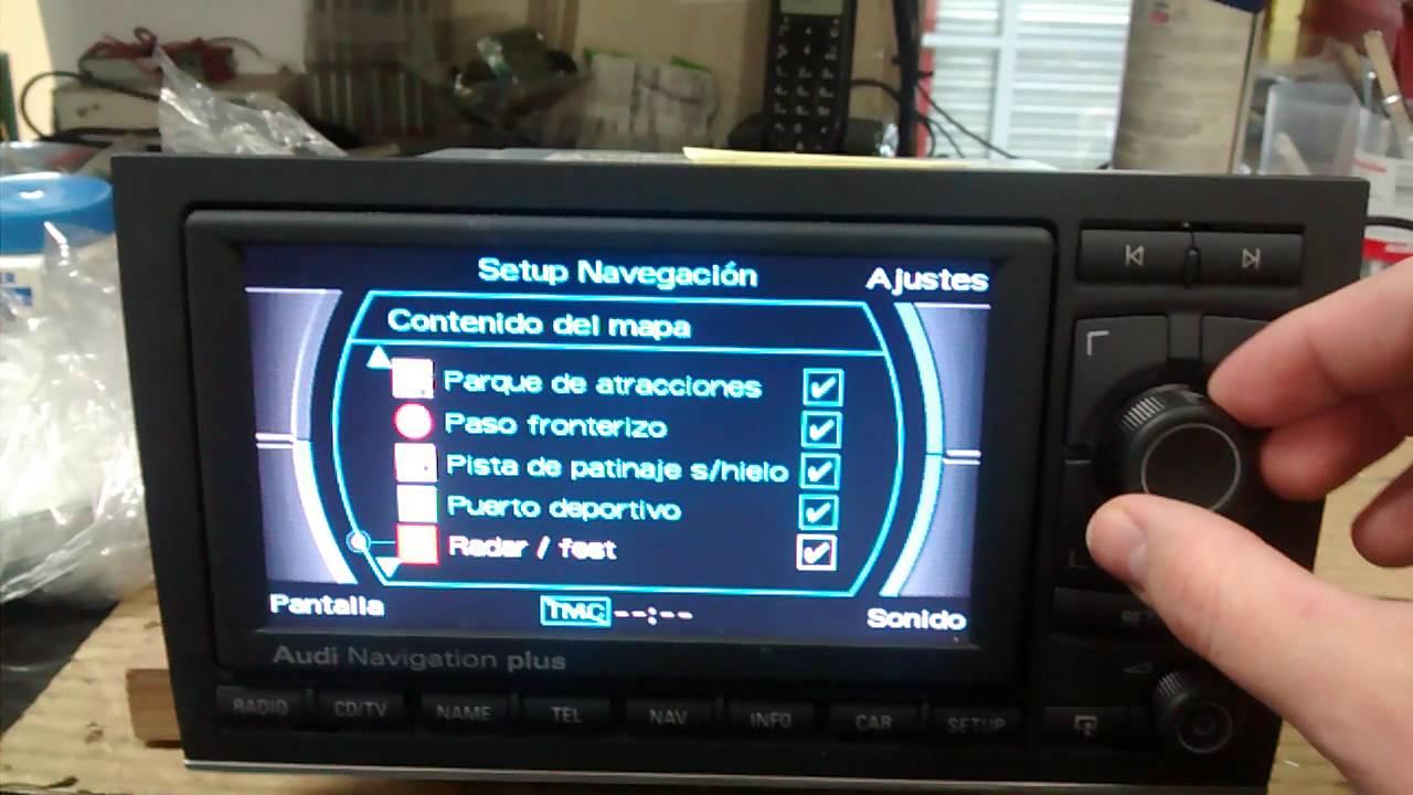 Audi RNS-E 2014 + Radares / Speedcams - YouTube