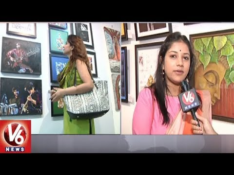 Artists From 51 Different Countries Exhibit Paintings In Nehru Art Gallery | V6 News