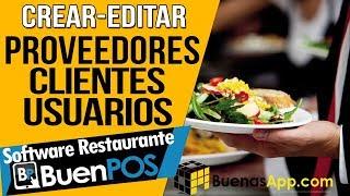 Sistema Pos Restaurantes (PROVEEDORES, CLIENTES, USUARIOS O PERFILES)