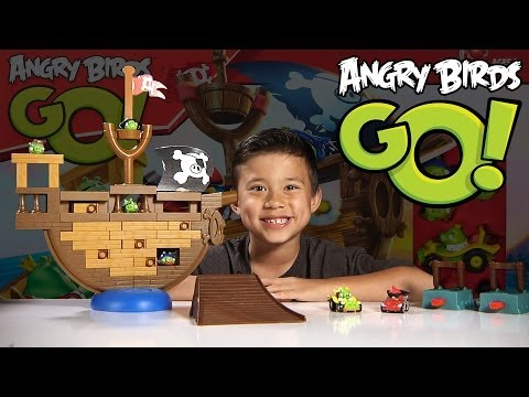 Angry Birds GO! - PIRATE PIG ATTACK Game - Jenga Unboxing & Review