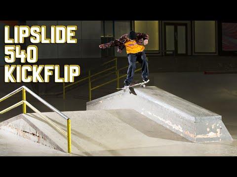 Lipslide 540 Kickflip?!